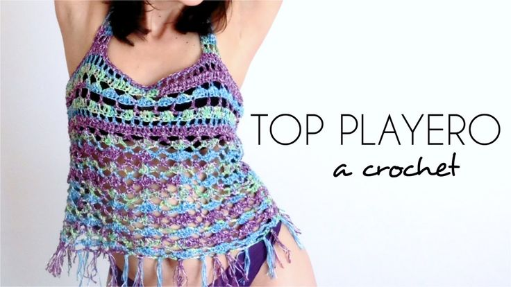 TOP PLAYERO a crochet | BLUSA TEJIDA paso a paso (ENGLISH SUB) - Parte 1...
