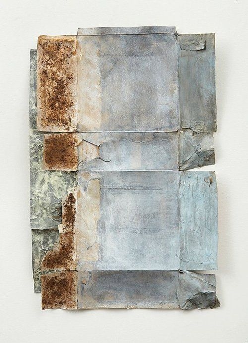 justanothermasterpiece:    Ruth Hardinger, Container 5, 2010, 28 x 18.5 in, salt, earth, acrylic and casein on cardboard.