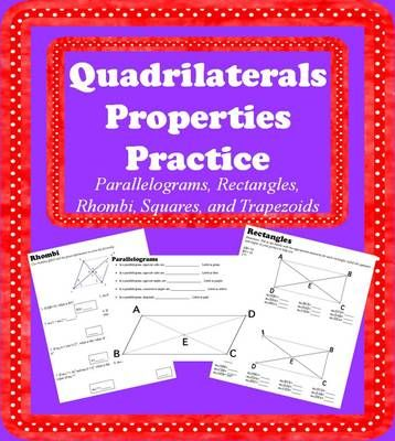 quadrilaterals properties practice from math is fun on 23 pages. Black Bedroom Furniture Sets. Home Design Ideas