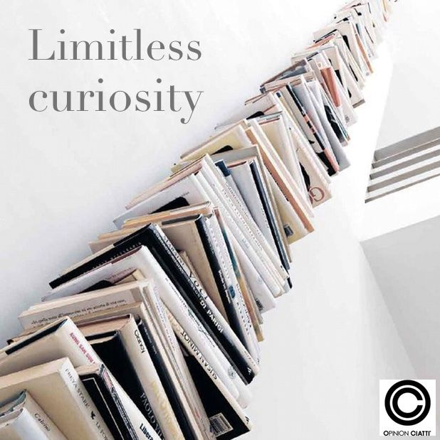 """PTOLOMEO:self standing bookcase, shelves in painted metal by Bruno Rainaldi, winner of """"Compasso d'oro"""" 2004. http://bit.ly/1BlP43f #books #readabook #culture #curiosity #knowledge #reading"""