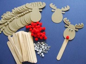 Enfeites de Natal Para fazer na escola   Rena