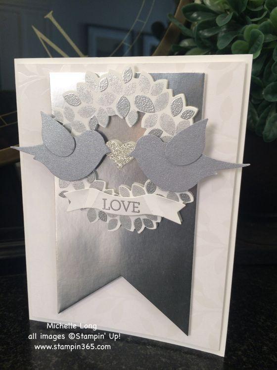 Wondrous Wreath Wedding Card - April 15, 2015 blog entry