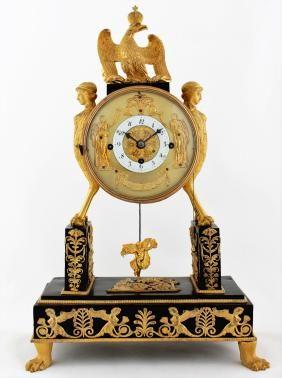 Rare Austrian Empire clock with automaton