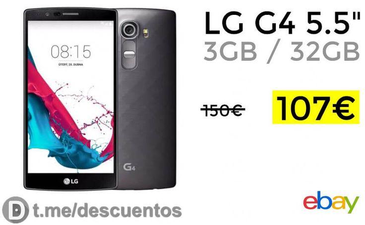 Teléfono inteligente LG G4 3GB / 32GB por 107 - http://ift.tt/2vgnUzF