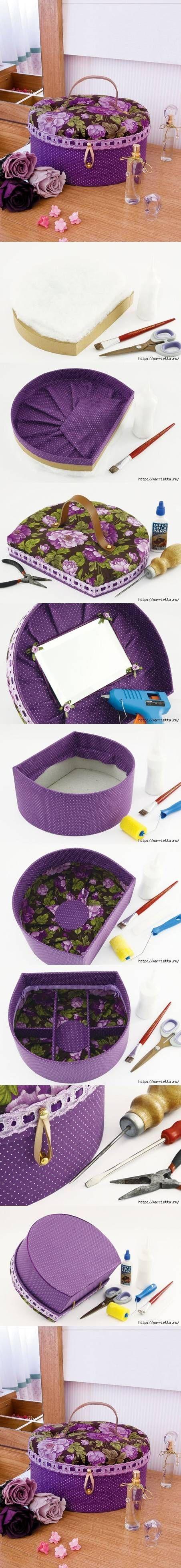 Cómo hacer una caja para el maquillaje o costurero