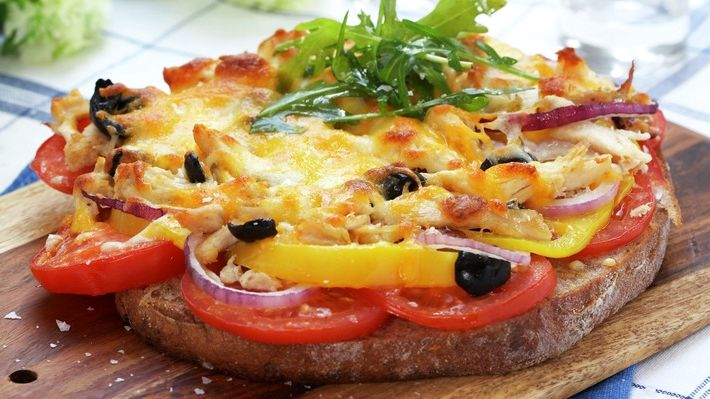 Бутерброд с курицей и овощами   Кулинарный Рай