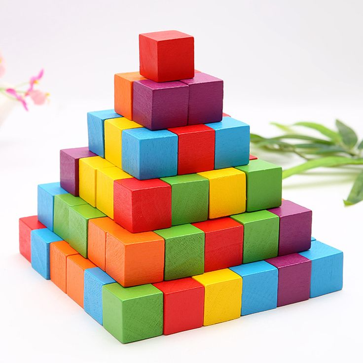 High Quality Wooden Mathematics Multi-Function Educational Toys For Children Wooden Cubes Blocks Building Bricks Christmas Gifts #Affiliate