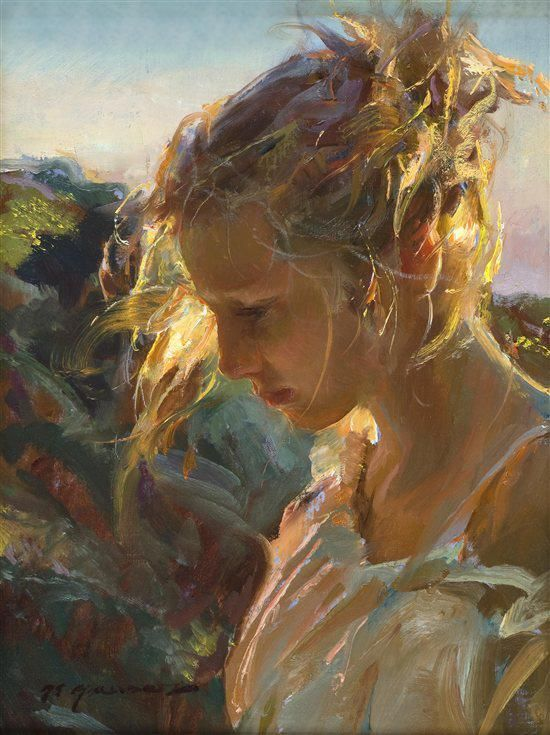 No idea who's the painter. wonderful capturing of sunlight, in my opinion