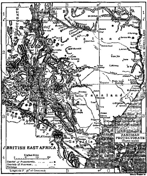 Old Map EAST AFRICA Tanaland and Jubaland East africa
