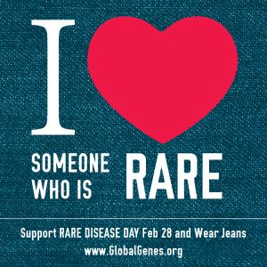 Support RareDiseaseDay February28 and Wear Jeans! The last day of February is Rare Disease Day.
