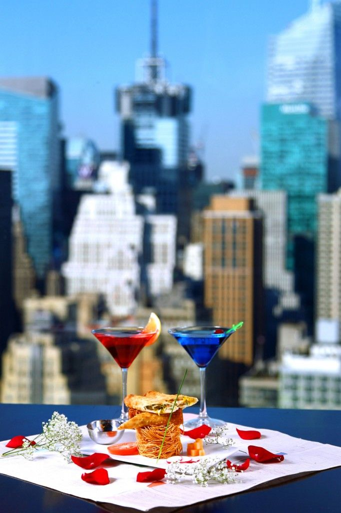 GAONNURI :: The Romantic yet Authentic Korean BBQ Restaurant with Sky Lounge View of Manhattan and Empire State Building from 39th floor in NYC