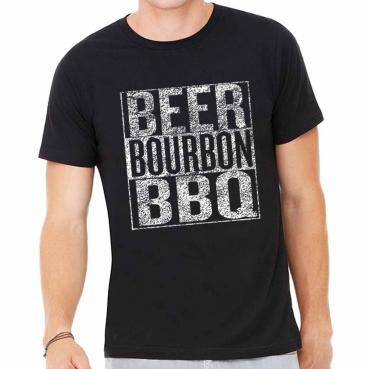 BrewerShirts Beer Bourbon and Barbecue Festival T-Shirt Graphic Tee