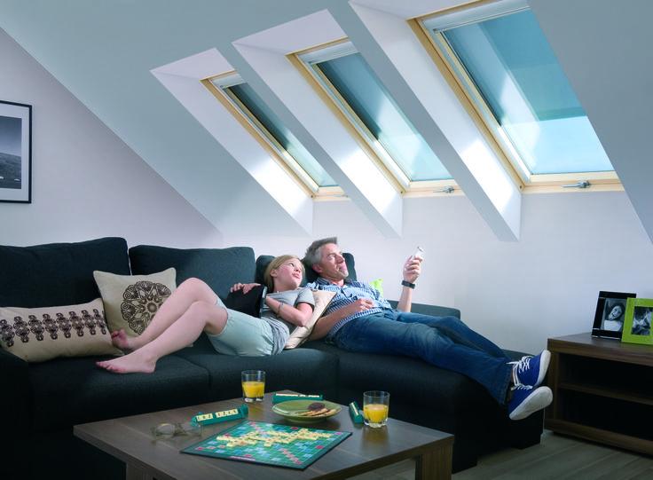 il sottotetto diventa zona #living con FAKRO www.fakro.it