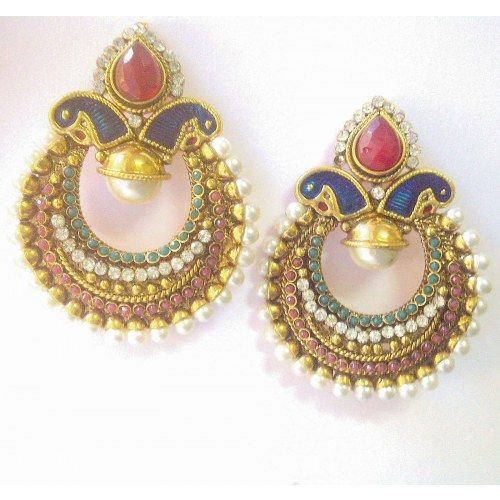 Ethnic Indian Bollywood Jewelry - Earring