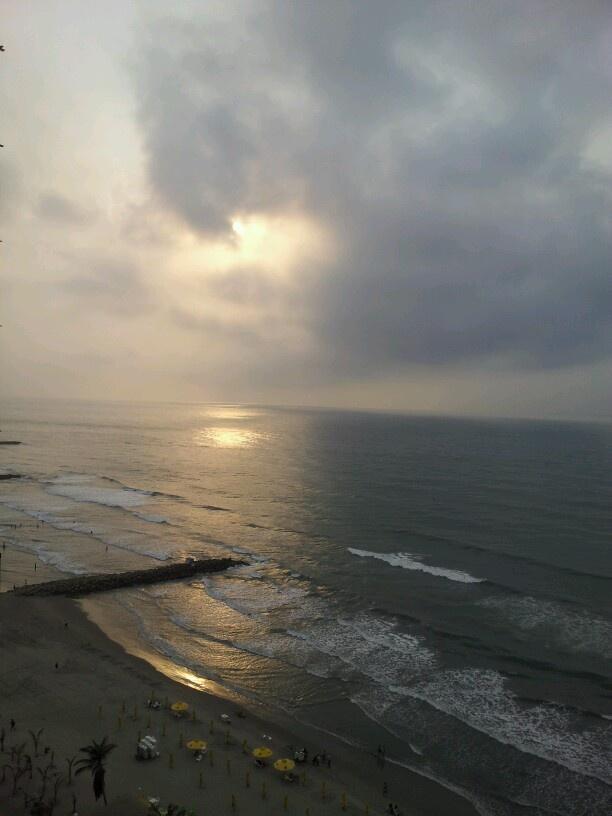 Atardecer en Cartagena, vista desde el Hotel Regatta