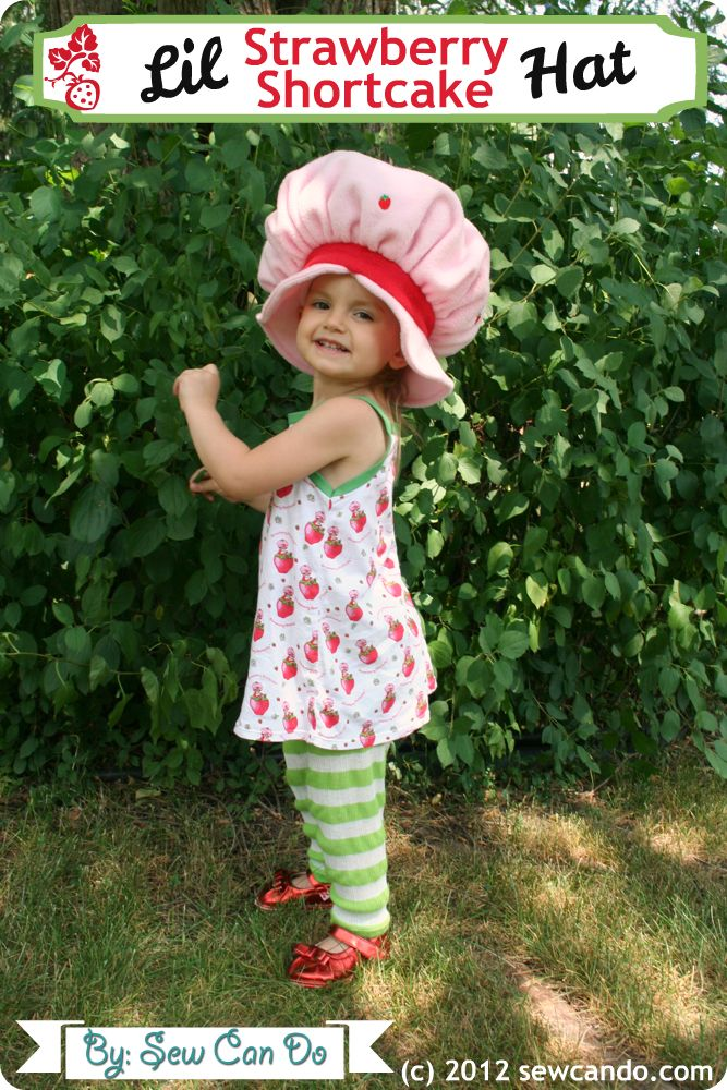 Vintage Inspired Crafts: Strawberry Shortcake Hat by Sew Can Do