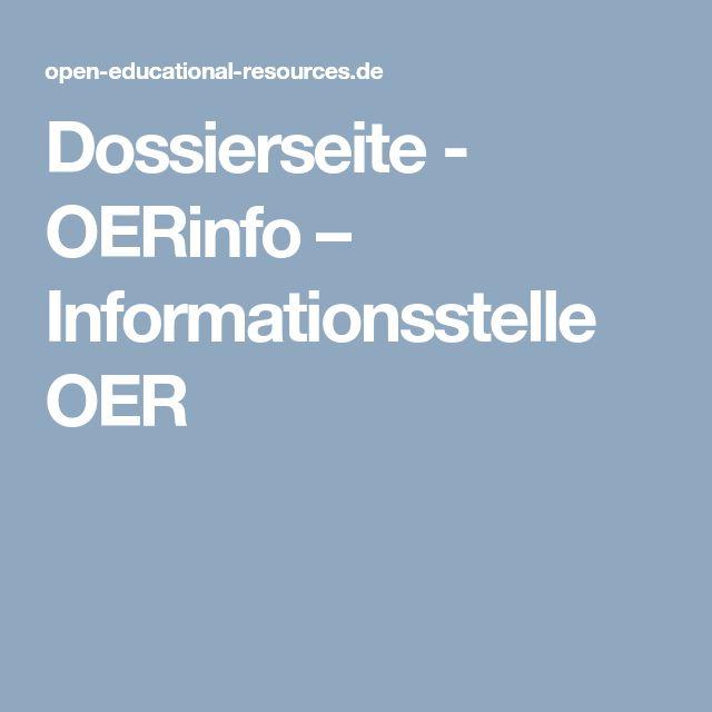 Dossierseite - OERinfo – Informationsstelle OER