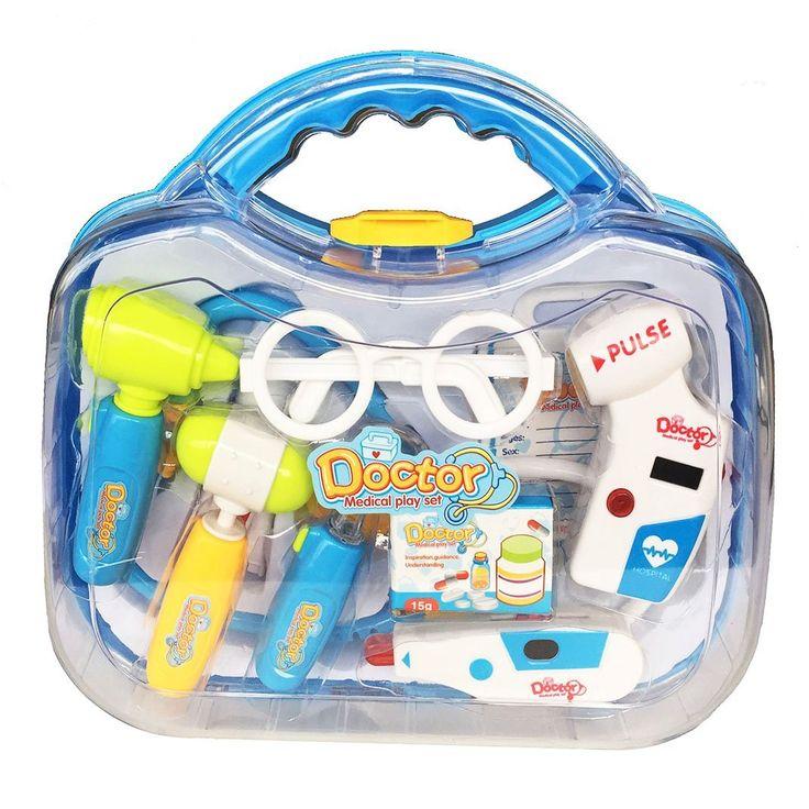 Pretender maletín de médico juguetes kit aprendizaje por 12,47 €  #Maletín para que los más #peques de la casa aprendan jugando y #divirtiéndose de manera fácil y sencilla a los médicos, todo esto por un #precio muy bajo y asequible.  #amazon #juguetes #oferta #regalos