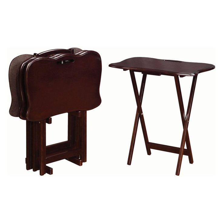 Coaster Furniture Traditional Wood TV Tray Table Set - 902717