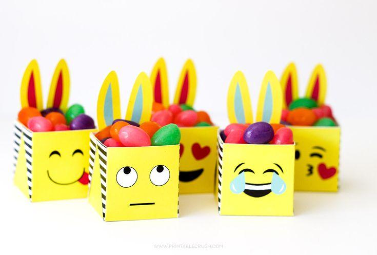 Printable Emoji Easter Bunny Boxes