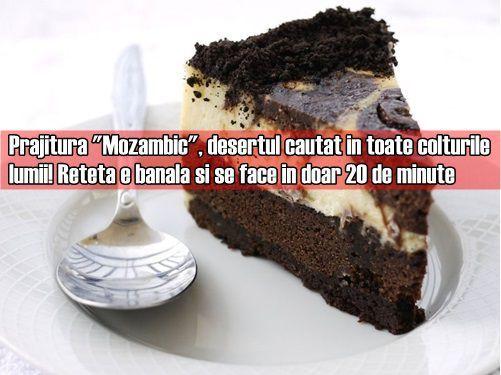 """Prajitura """"Mozambic"""", desertul cautat in toate colturile lumii! Reteta e banala si se face in doar 20 de minute"""