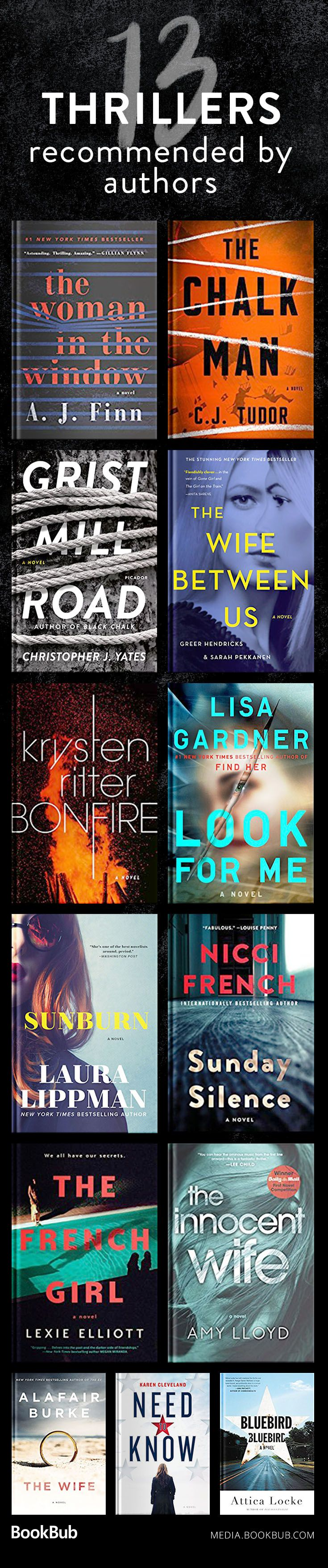 13 thriller books recommended by authors. If you're looking for books like Gone Girl, these twisty, suspense books are worth picking up!