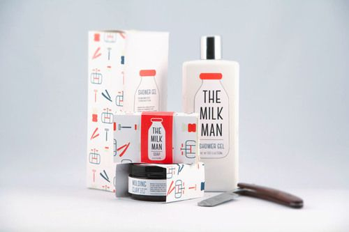 jvnk:  The Milk Man: Men's Grooming Products Packaging by...