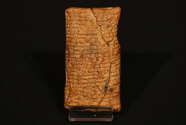 Tablette inscrite en sumérien relatant le Déluge et décrivant les caractéristiques de l'Arche de Noë. Entre 1900 et 1700 av. J-C. La tablette traduite par Irvin Finkel (theblaze.com).