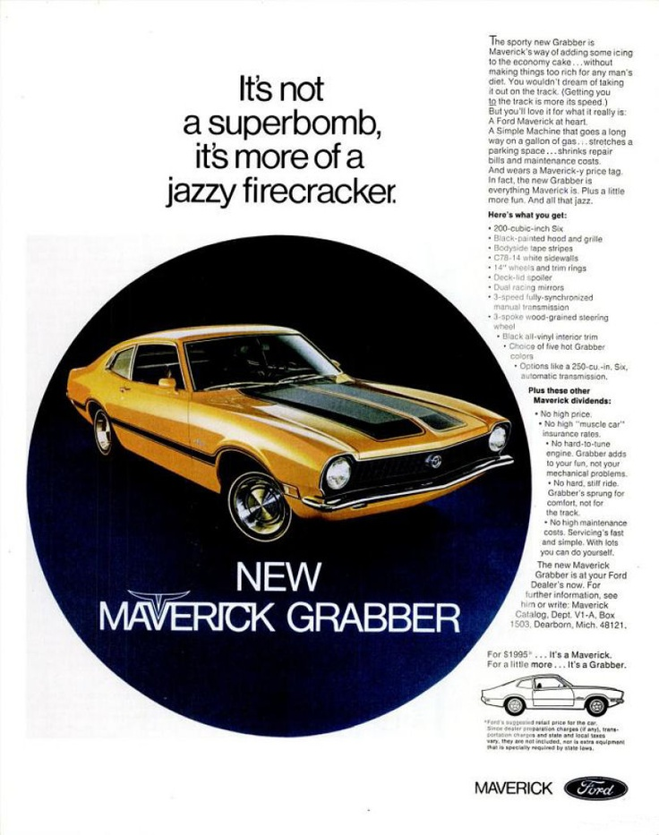 Ford Maverick. Find parts for this classic beauty at http://restorationpartssource.com/store/