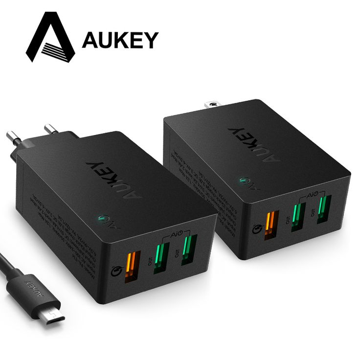 AUKEY USB Charger Quick Charge 3.0 3-Port USB Wall Charger for LG G5 Xiaomi Samsung Galaxy S6/Edge Nexus 6P/5X iPhone iPad