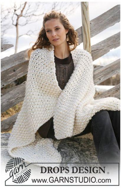 MES FAVORIS TRICOT-CROCHET: Modèle tricot gratuit : Plaid au point de riz