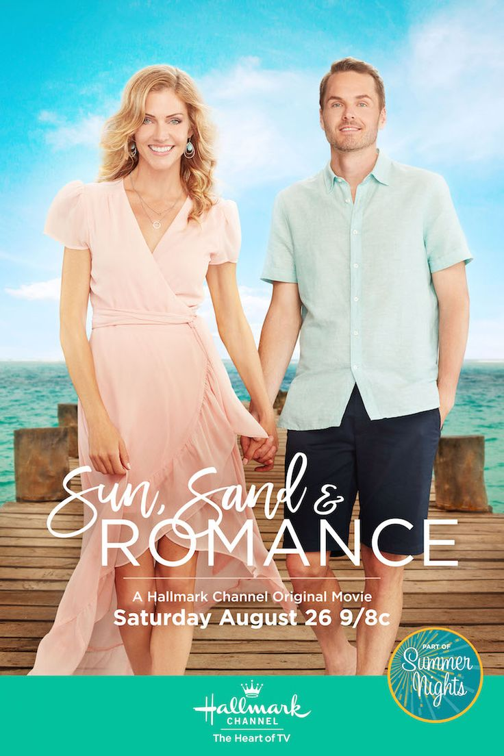 Sun, Sand and Romance - starring Tricia Helfer and Paul Campbell. Catch an encore September 2 on Hallmark Channel. #SummerNights