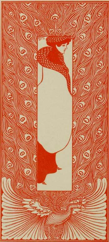 Art Nouveau Design by Will H. Bradley from The Modern Poster (1895)