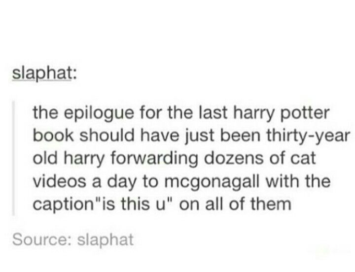 "epilogues that would have been better than ""albus severus"""
