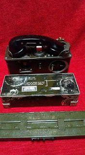 antiQue Bekasi: vintage set telephone millitary lkp dengan kotak b...