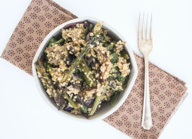 miso-glazed asparagus and eggplant   Dishing Up the Dirt