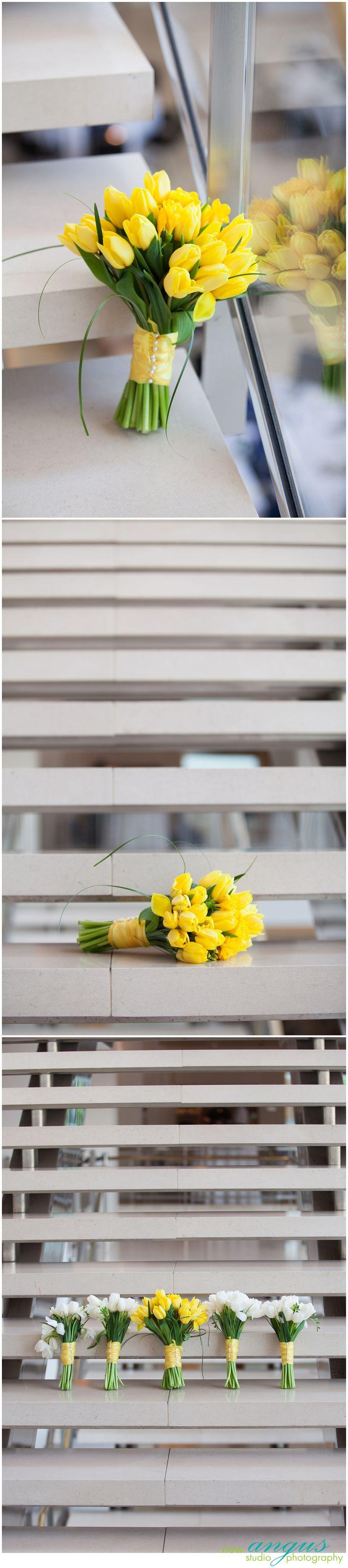 Bouquet de tulipas amarelas.