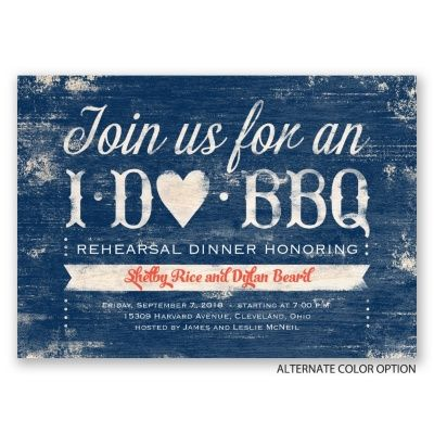 Having a backyard barbecue for your rehearsal dinner? This I DO BBQ rehearsal dinner invitation is ADORABLE! From Invitations by Dawn. #beforewedo
