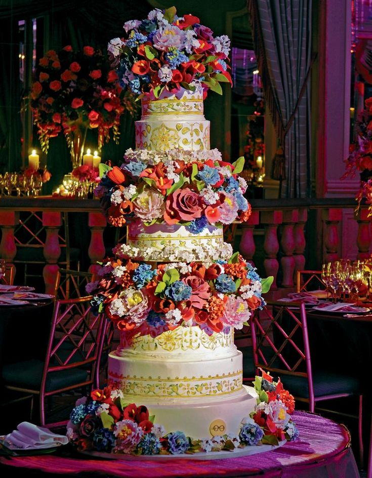 Открытка большой торт