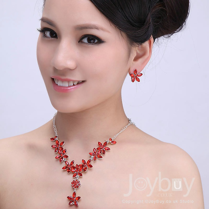 Red Jewelry For Wedding Dress Hot Sale £21