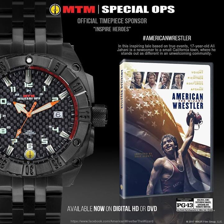 MTM Special Ops Watches has inspired generations of heroes and is the proud official timepiece sponsor of the movie American Wrestler: The Wizard. Available now on Digital HD or DVD. #AmericanWrestler #BuiltForAction  🎥🇺🇸🤼‍♂️ #watch  #watches  #watchoftheday  #luxury #rolex  #timepiece    #watchcollector    #omega  #rolexwatch   #swissmade  #luxurywatch #chronograph       #luxurywatches #watchlover