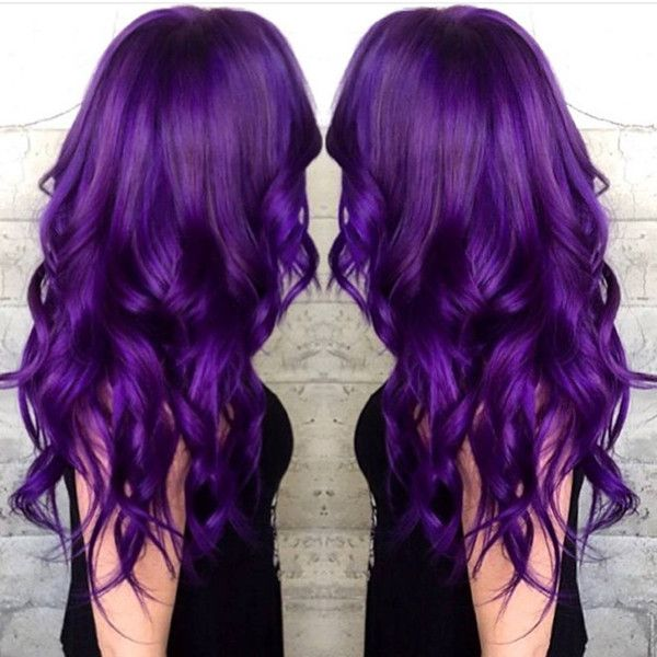 Voilet waves, incredible nice purple hair color idea to try: