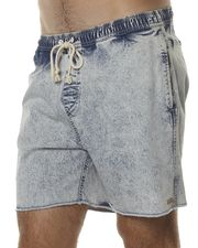 AFENDS BAYWATCH BEACH SHORT - ICE ACID WASH