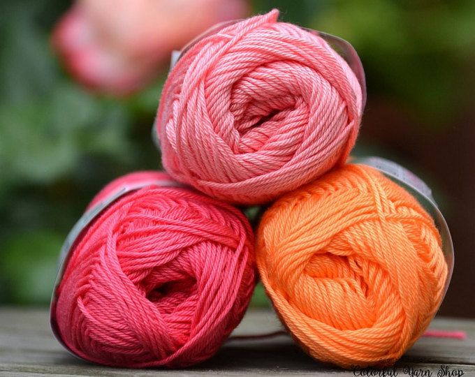 Catania yarn - Schachenmayr / Mix of colors / Worldwide Shipping / Crochet and Knitting Yarn