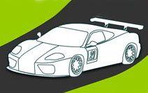 Jogos de pintar online para crianças: Carro de corrida