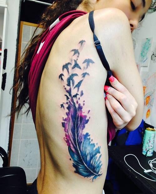I wannnnnnnnnt it!  Water color tattoo