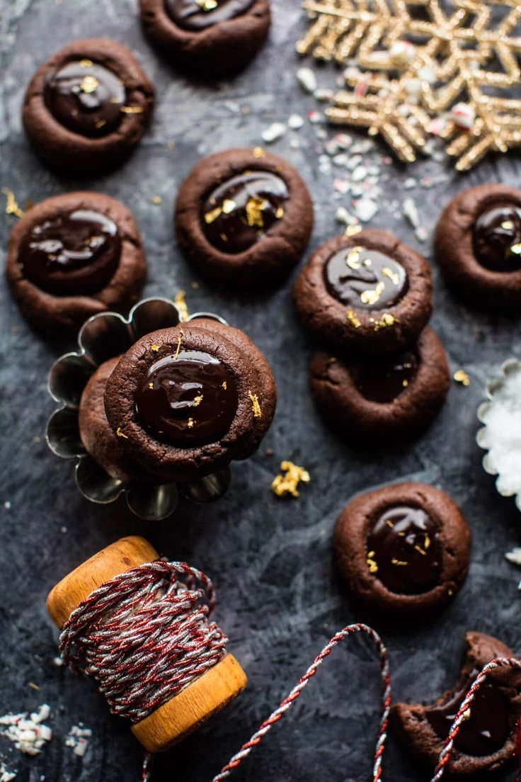 Chocolate Espresso Thumbprint Cookies - Fast & easy, moist, super chocolatey with a hint of coffee flavor & topped with gooey ganache! @halfbakedharvest.com