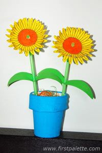Potted Sunflowers craft