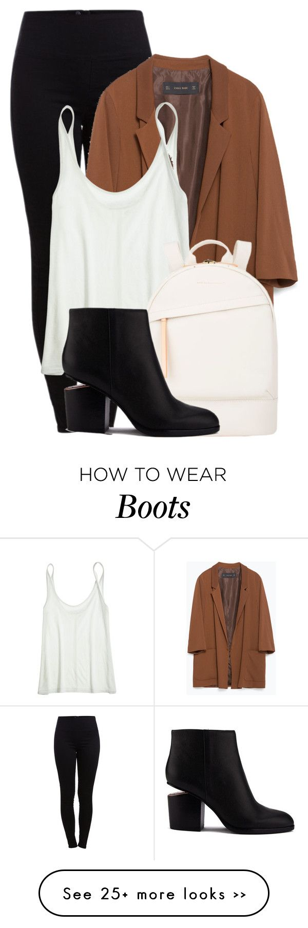 """""""Untitled #1228"""" by andreastoessel on Polyvore featuring Pieces, Zara, Calypso St. Barth, Want Les Essentiels de la Vie and Alexander Wang"""