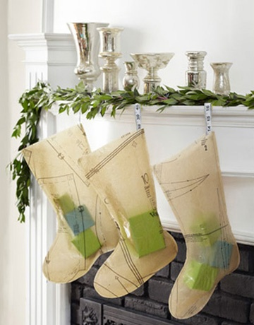 Stockings made from sewing patterns is brilliant!